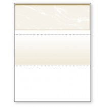 Blank Laser Top Check Paper, Gold