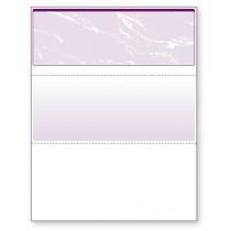Blank Laser Top Check Paper, Purple