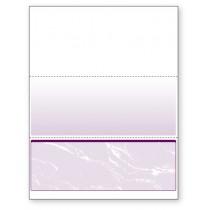 Blank Laser Bottom Check Paper, Purple