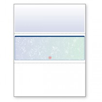 Blank Laser Middle Check Paper, Blue/Green Prismatic