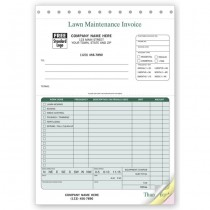 Landscaping Invoice - 6 3/8 x 8 1/2