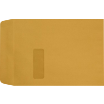 9 x 12 Open End Brown Kraft Blank Window Envelopes