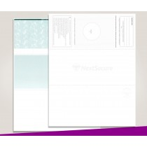 Blank Laser Top Check Paper, Green