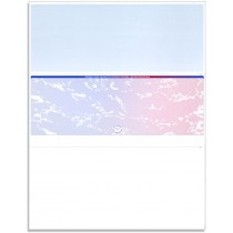 Blank Laser Middle Check Paper, Blue/Red Prismatic