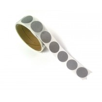 """1"""" Round Silver Scratch Off Labels Stickers, 1000 labels per roll"""