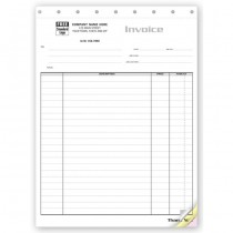 """Contractor Invoice - Itemized Invoice for Large Jobs,  8 1/2 X 11"""""""