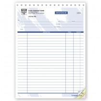 "Job Invoice Form - Large,  8 1/2 X 11"""