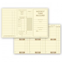 """Pocket Size Weekly Time Cards, 8 X 5"""""""
