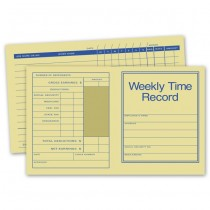 """Pocket Size Weekly Time Records, 7 X 4 1/4"""""""