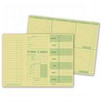 """Weekly Time Card, Tag Stock, 10 3/8 X 7 3/4"""""""