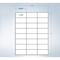 "8-1/2"" x 11"", 24 Labels, per Sheet,2.83"" x 1.375"""