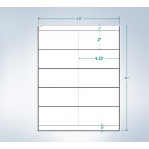 "8-1/2"" x 11"", 10 Labels, per Sheet, 4.25"" x 2"""