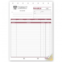 """Shipping Invoice - Large,  8 1/2 X 11"""""""