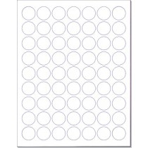 "8-1/2"" x 11"" 63 Labels per Sheet 1"" Round"