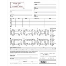 3 Part Vehicle Auto Transport Bill of Lading and Invoice Form