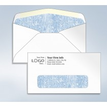 "Imprinted Envelope,W/ Tinted Window, 6 3/4, 6-1/2"" x 3-5/8"