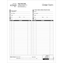Order Entry Form, space for credit card info.,Style # 1