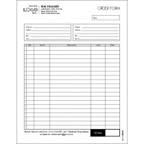 Multi Purpose Order Entry Form, Style #5