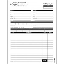 Order Entry Form,With space for credit card info.,  Style # 2