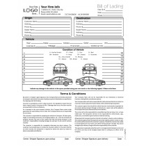 Auto Transport Bill of Lading with 1 Car, Style #3