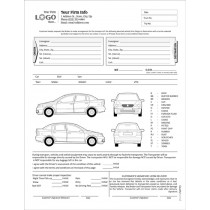 Auto Condition Report Form with Terms on back