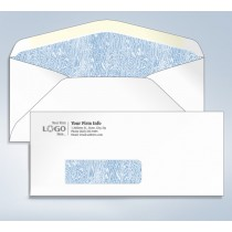 Imprinted Tinted Envelope,w/window, #10,4 1/8 x 9 1/2