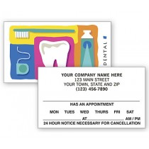 Dental 2 Sided Appointment Cards, Dental Reminder Design