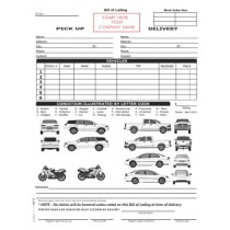 Vehicle Transport Bill of Lading Form, Small Pack, NO NAME Printed