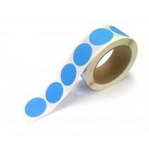 """1.5"""" Circle Color Stickers, 500 Permanent Labels, 3"""" Core, Blue Fluorescent"""