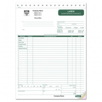 """Lawn Maintenance, Landscaping Invoice, 8 1/2 X 11"""""""