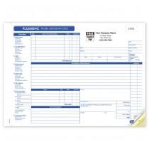 HVAC Plumbing Work Order,  Horizontal, Form and invoice