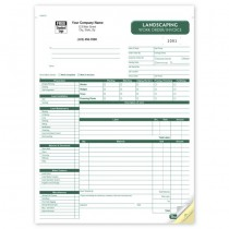 """Landscaping Work Order / Invoice, 8 1/2 X 11"""""""