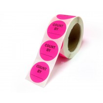"""2"""" Inventory Control/Date 500 Permanent Labels  Green """"Count By"""" Labels  3"""" Core"""