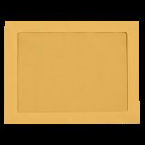 9 x 12  Full Face  Brown Kraft Blank, Window  Envelopes