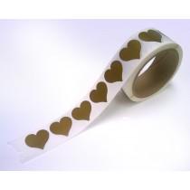 "1-1/4"" Heart Shape  Gold Scratch Off  Label Stickers"