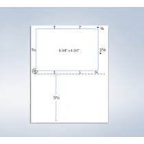 """Integrated Click-N-Ship Label , 6-3/4 x 4-3/4"""""""