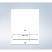 """Integrated Label Form, 12 Labels 2-1/2 x 3/4"""" each"""