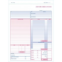 Job Work Order, Invoice & Grid Sheet, 2 Part Carbonless