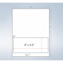 """Integrated Label Form, 1 Label 8 x 3-1/2"""" on the Bottom"""
