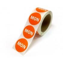 "2"" Inventory Control/Date 500 Permanent Labels  Green ""Mon"" Labels  3"" Core"