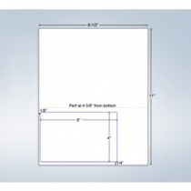 """Integrated Label Form, 1 Label  6x4"""", 1 Horz. Perf. on Left"""