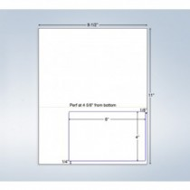 """Integrated Label Form, 1 Label  6x4"""", 1 Horz. Perf. on Right"""