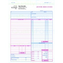 Job Work Order, Invoice & Grid Sheet,With Imprint, 2 Part Carbonless