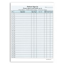 Sign in Form Blue Color Pack of 25 Sheets  2 Part