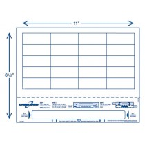 """8 1/2"""" x 11"""" Adult Band with 20 Labels"""