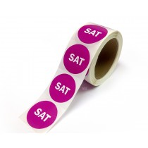 "2"" Inventory Control/Date 500 Permanent Labels  Green ""Sat"" Labels  3"" Core"