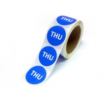 """2"""" Inventory Control/Date 500 Permanent Labels  Green """"Thu"""" Labels  3"""" Core"""