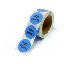 """2"""" Inventory Control/Date 500 Permanent Labels  Green """"Use First"""" Labels  3"""" Core"""