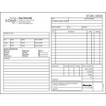HVAC Service Work Order Form and invoice B